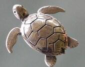 sterling silver Sea Turtle Brooch