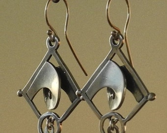 Breaking Wave Earrings - sterling silver
