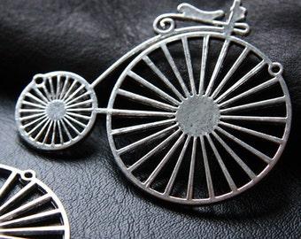 2pcs / Bike / Oxidized Silver Tone / Base Metal Pendants (YA8374//C22)