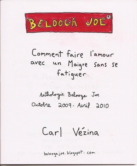 items similar to belooga joe comment faire l amour avec. Black Bedroom Furniture Sets. Home Design Ideas