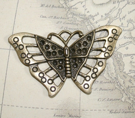 33x56mm awesome steampunk butterfly pendants - set of 4