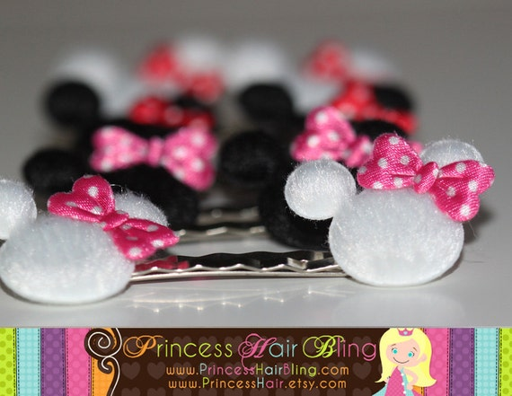 Minnie Mouse Hairpins