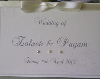 Elegant Ivory and pearl Wedding Invitation Card