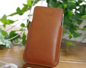 craftSOO - Hand made Sleeve Leather Case, Iphone Case,3GS,Iphone 4,4S, iPod Touch-Tan