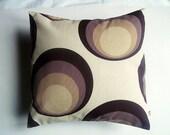SALE pillow - retro pillow - brown pillow - circle pillow - spot pillow - 16 inch pillow - modern pillow - throw pillow - decorative pillow