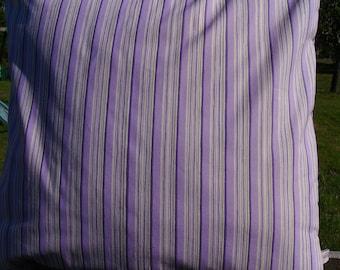 purple pillow cover - lilac pillow cover - stripe pillow cover - French pillow cover - decorative pillow cver