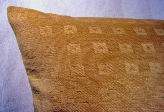 gold pillow cover - chenille pillow cover - luxury pillow cover - soft pillow cover- metallic pillow - decorative pillow cover