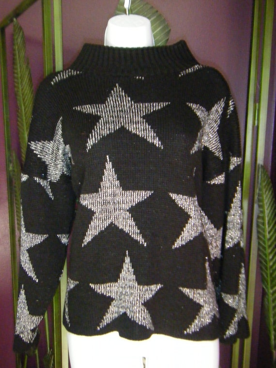 Indie Hipster Awesome Retro Rad Hipster Silver Star Novelty Sweater