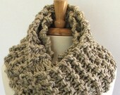 Made to Order - Chunky Knit Barley Long Infinity Cowl Scarf
