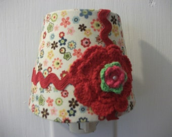 Red Funky Flower Nightlight