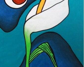 Calla Lily by Moonlight-Art Print / Giclée, Original Design by Vivian Estalella 8 X 10