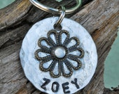 Pet ID Tag / Dog Tag / Cat Tag / Personalized Pet Tag / Zoey