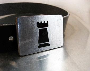 Black Rook Belt Buckle