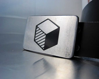 3D Cube Belt Buckle