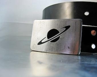 Saturn Belt Buckle - Handmade