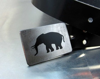 Elephant Profile Belt Buckle