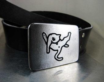 Gritty Kitty Belt Buckle