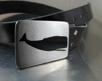 Sperm Whale Belt Buckle