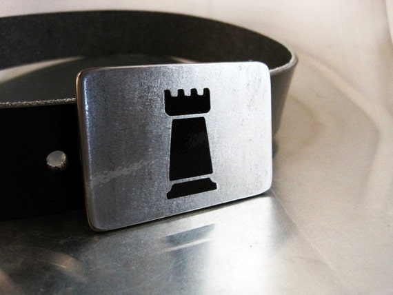 Black Rook Belt Buckle