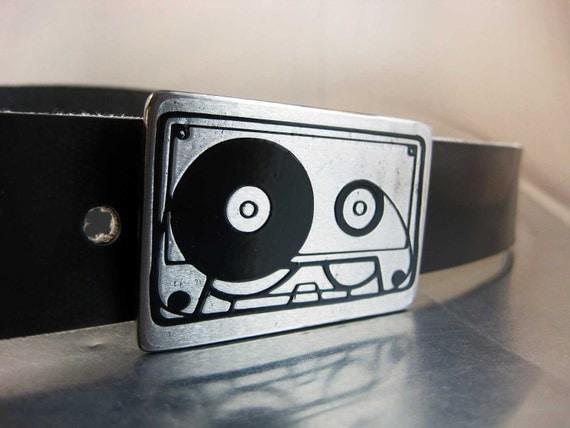 Cassette Tape Belt Buckle