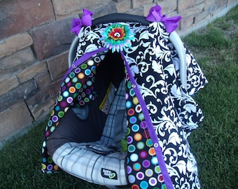 Car seat Canopy Dots Galore