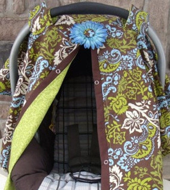 Carseat Canopy / Carseat Cover / Carseat Tent / Carseat Blanket Boy