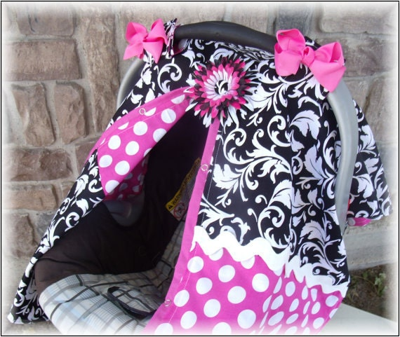 items similar to car seat canopy girl nursing cover infant carseat cover girl carseat canopy on etsy. Black Bedroom Furniture Sets. Home Design Ideas