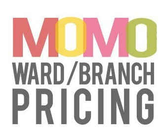 WARD or BRANCH PRICING - add to any print for unlimited use for your Ward