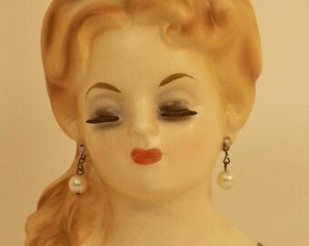 "Inarco E 779 5 1/2"" Lady Head Vase"