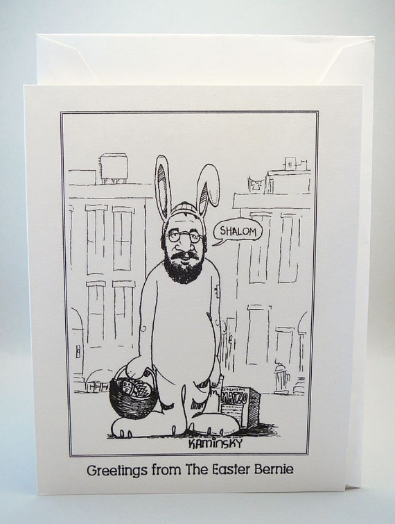 Humorous Jewish Greeting Card. Greetings From The Easter Bernie