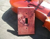 Head of a Young Girl, Di Vinci, Light Switch Plate