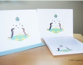 Dancing Dachshund Note Cards and Personalized Notepad Set (8 cards, 1 notepad)