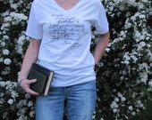 Mr. Darcy's Proposal- Jane Austen- Pride and Prejudice T shirt- Brides Maid or College roommate shirts