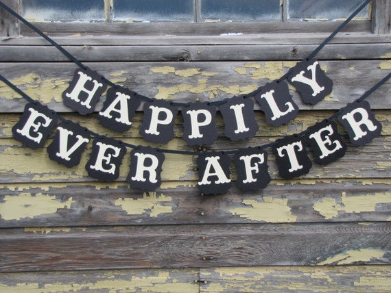 HAPPILY EVER AFTER Wedding, Engagement, or Announcement Photo