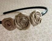Petite Taupe Rosette Headband