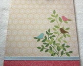 Pink and Cream Bird Double-Sided Clipboard