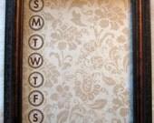 Shades of Brown Wipe-Off Menu Planner