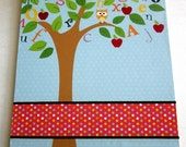 Alphabet Tree with Owl Clipboard