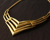 Vintage 80's Gold Necklace