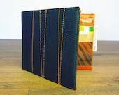 Black & Orange Bi-fold Wallet