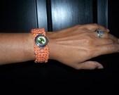 Wrist Watch with Crochet Band : Naranja Time Machine.