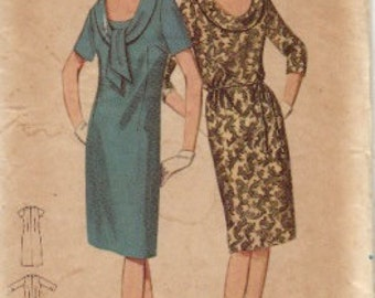 Vintage 50's Butterick Pattern Semi-Fitted Dress