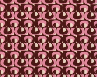 1 3/4 yards Pink and Brown Abstract Lycra Fabric