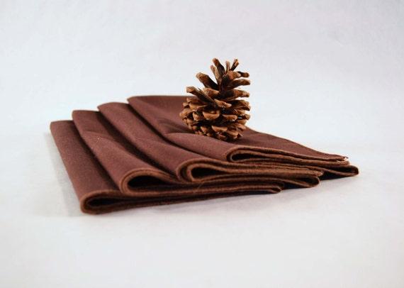 Vintage Napkins Set of 6 Dark Chocolate Napkins