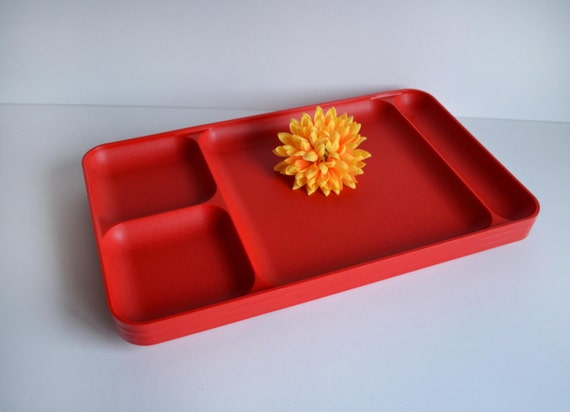Vintage Tupperware Trays Red Trays