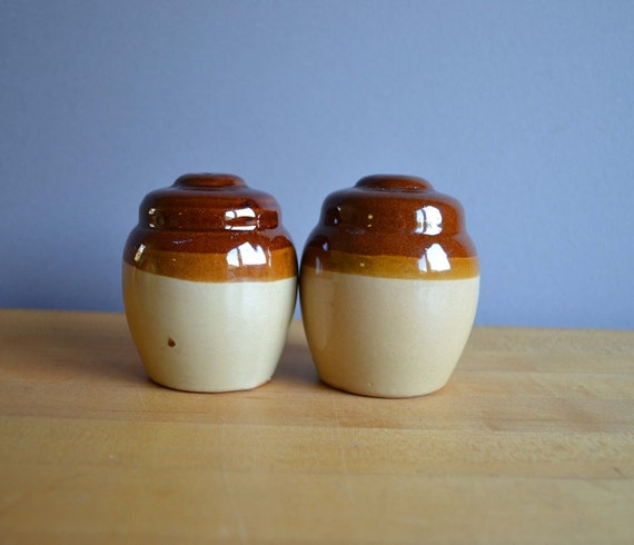 Pottery Salt and Pepper Shakers