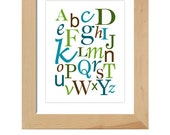 ABC's printable wall art poster, digital file, DIY, nursery, boy, girl, playroom, new parents, print, gift