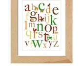 ABC's printable wall art poster - 8x10 (farm)