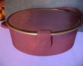Vtg 1930s ART DECO Taffeta Box Purse / Handbag with Gold Metal Framing and Silk Lining