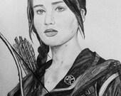 "Jennifer Lawrence "" Katniss "" ( The Hunger Games )"